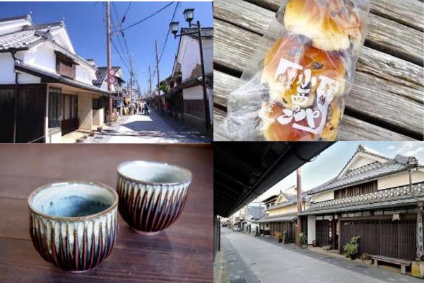 午後は城下町を観光し地元で人気の黒豆パンをお土産に