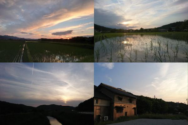 大自然に包まれる田園リゾートで、夕暮れの絶景を眺める2