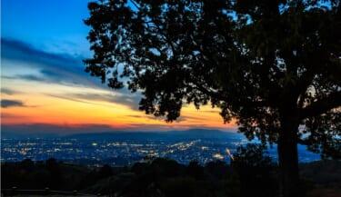 新日本三大夜景のひとつ奈良若草山山頂の夜景